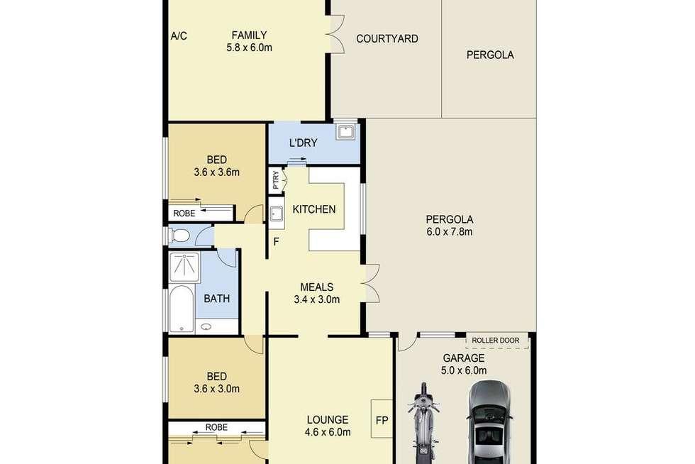 Floorplan of Homely house listing, 23 Barley Court, Delahey VIC 3037
