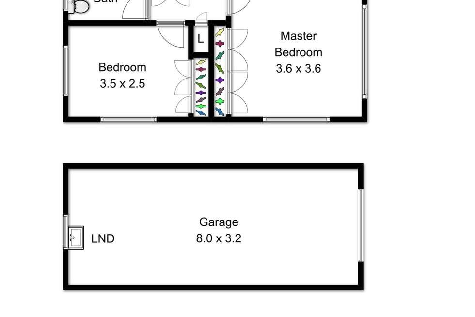 Floorplan of Homely unit listing, 4/77 Erneton Street, Newmarket QLD 4051