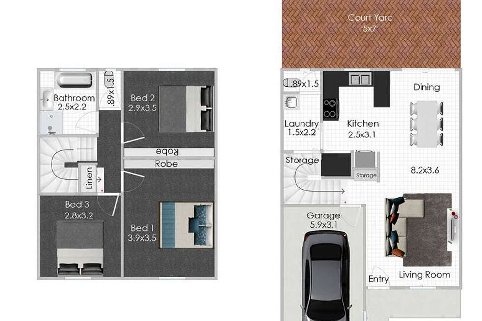 Floorplan of Homely townhouse listing, 13/122 Johnson Road, Hillcrest QLD 4118