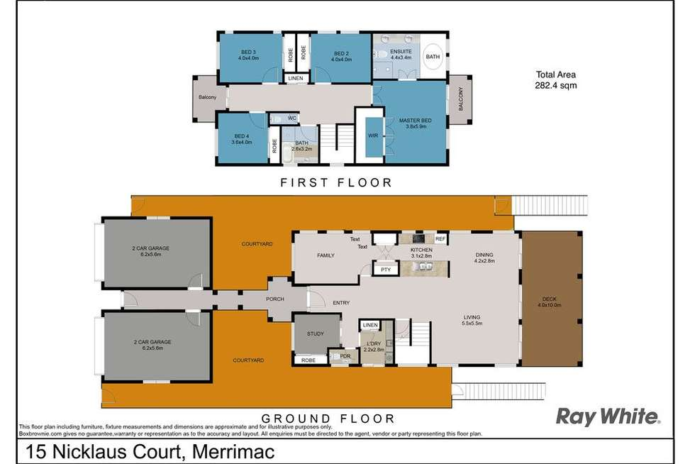 Floorplan of Homely house listing, 15 Nicklaus Court, Merrimac QLD 4226