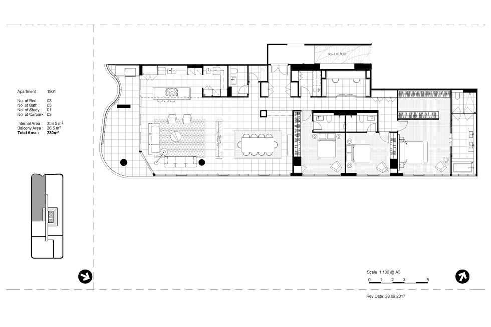 Floorplan of Homely apartment listing, Penthouse/12 Queens Road, Melbourne VIC 3000