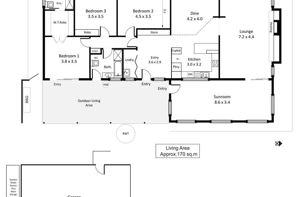 Floorplan of Homely house listing, 15 Fairway Avenue, Barmera SA 5345