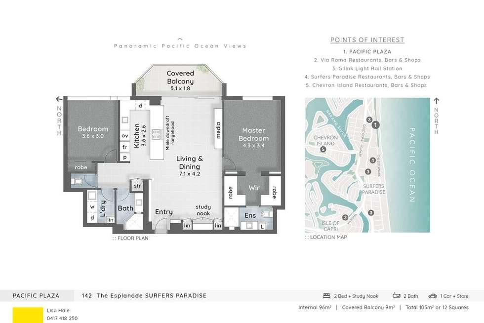 Floorplan of Homely unit listing, 50/142 The Esplanade, Surfers Paradise QLD 4217