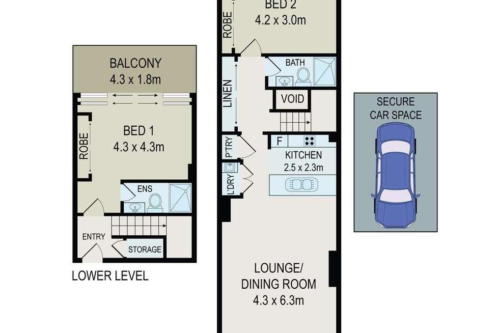 Floorplan of Homely apartment listing, 88/459-463 Church Street, Parramatta NSW 2150