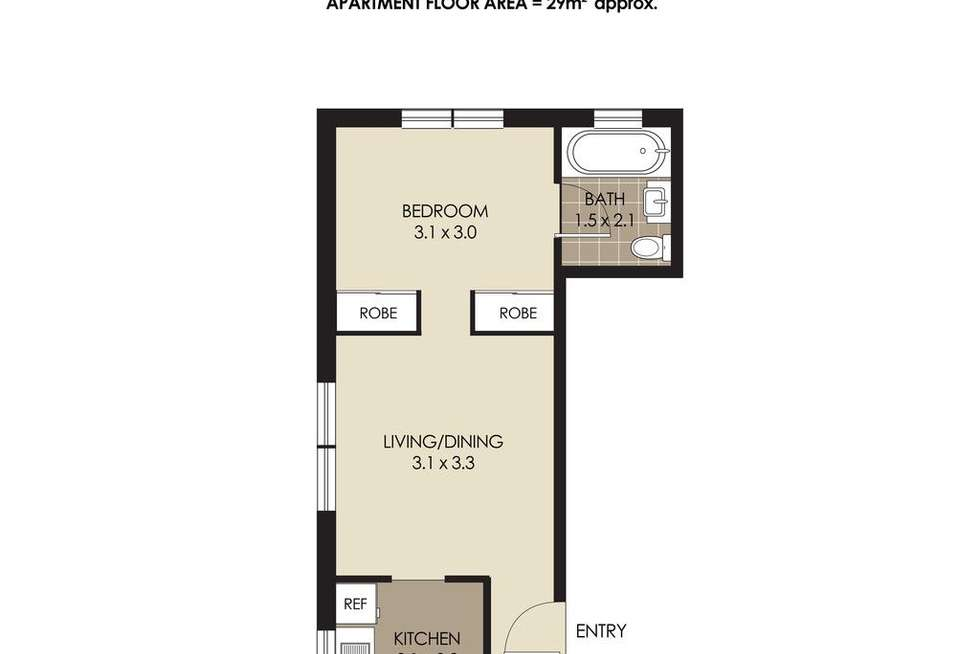 Floorplan of Homely apartment listing, 2/18 Clifford Street, Mosman NSW 2088