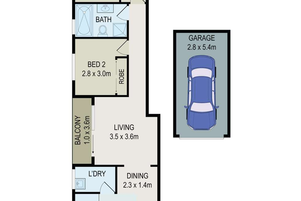 Floorplan of Homely unit listing, 5/6 Queens Road, Westmead NSW 2145