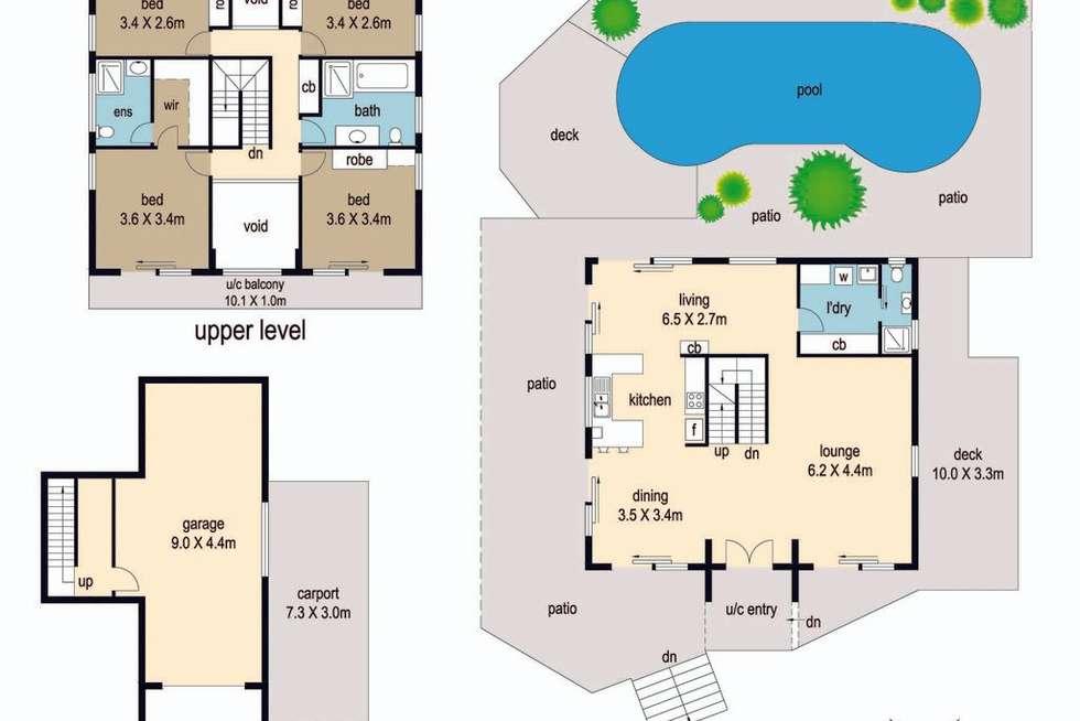 Floorplan of Homely house listing, 10 Arkana Drive, Noosa Heads QLD 4567