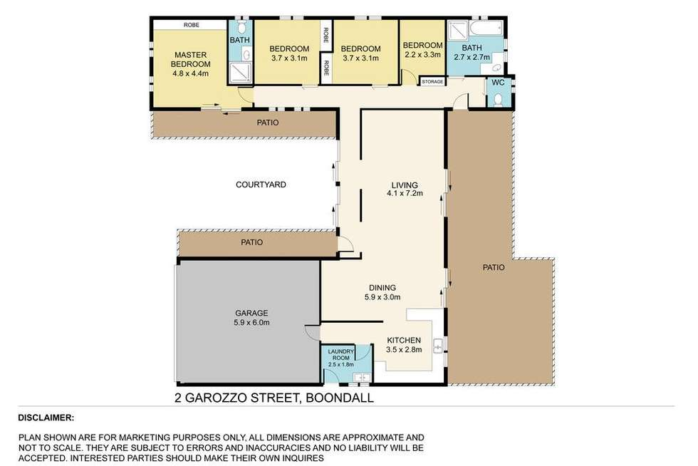 Floorplan of Homely house listing, 2 Garozzo Street, Boondall QLD 4034