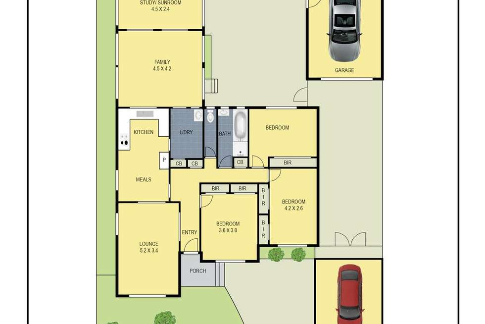 Floorplan of Homely house listing, 5 Flag Street, Kingsbury VIC 3083