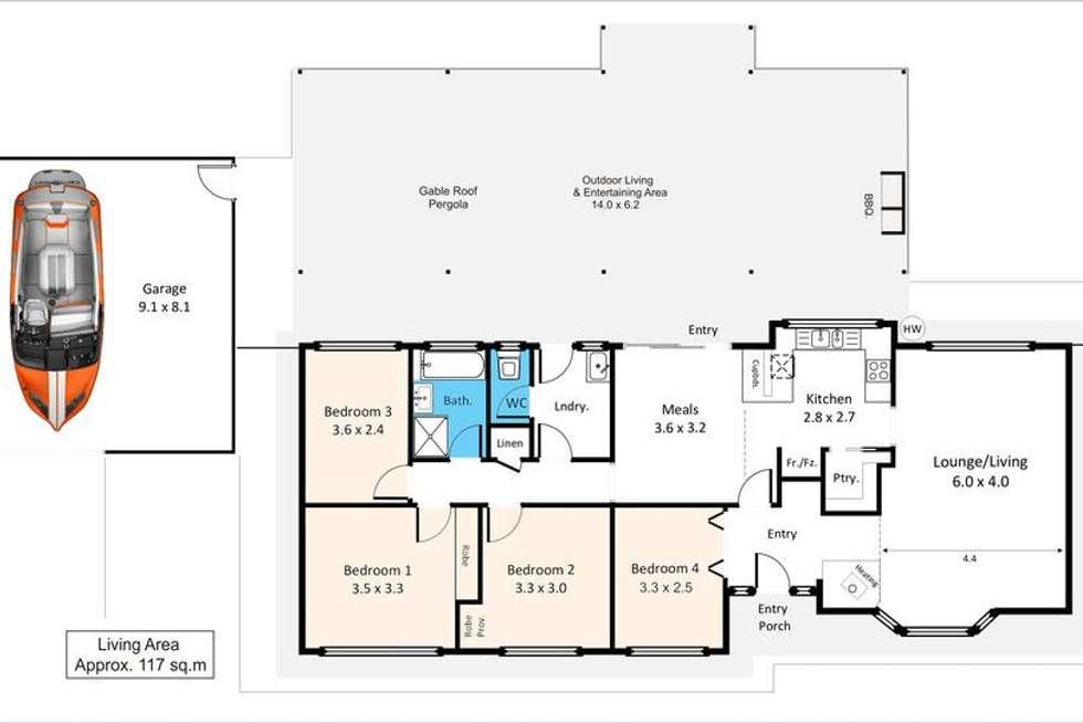 Floorplan of Homely house listing, 88 Mills Road, Berri SA 5343