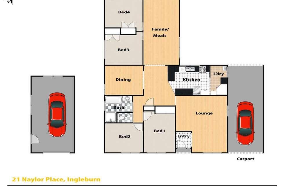 Floorplan of Homely house listing, 21 Naylor Place, Ingleburn NSW 2565