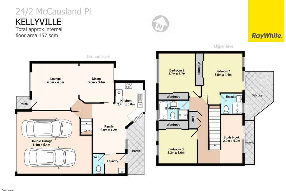 Floorplan of Homely townhouse listing, 24/2 McCausland Place, Kellyville NSW 2155