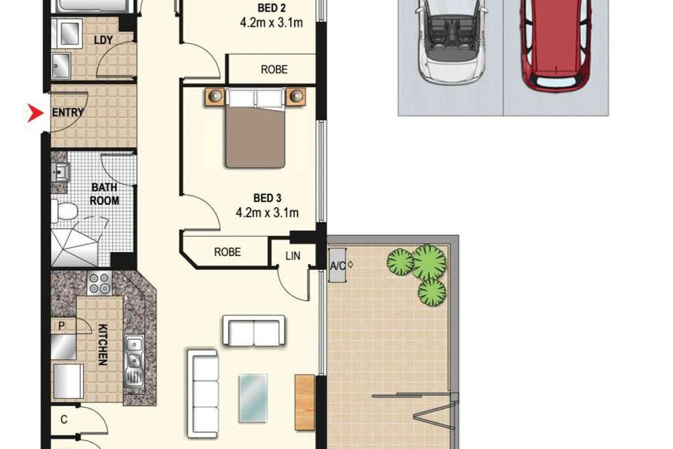 Floorplan of Homely apartment listing, 1055/6 Mary Street, Rhodes NSW 2138