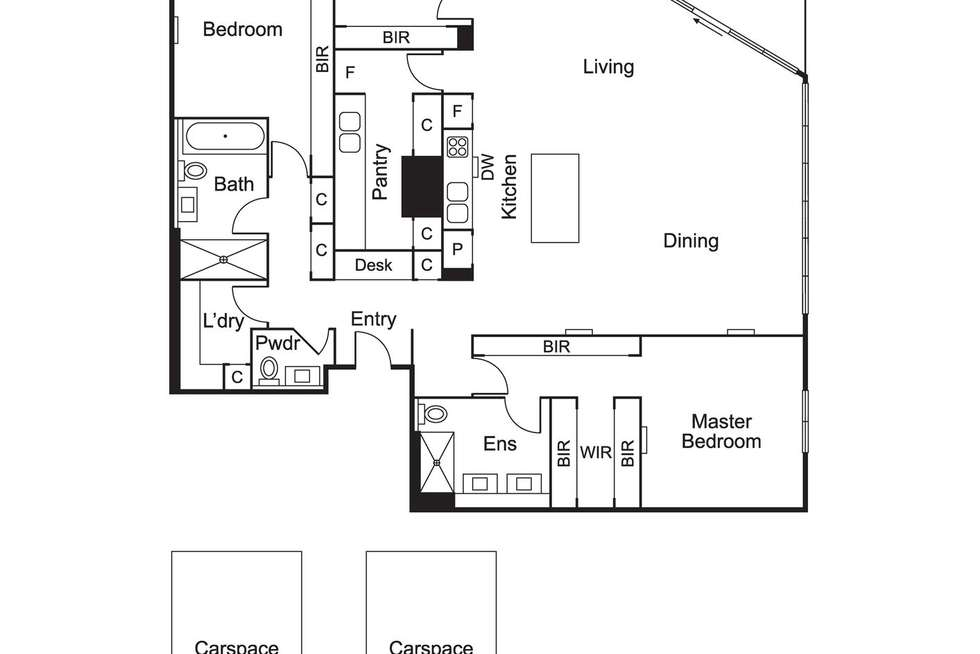 Floorplan of Homely apartment listing, 1806/12 Queens Road, Melbourne VIC 3004