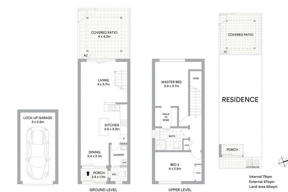 Floorplan of Homely townhouse listing, 87/170 Bardon Avenue, Burleigh Waters QLD 4220