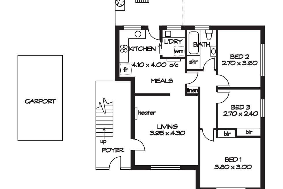 Floorplan of Homely unit listing, 4/6 West Street, Evandale SA 5069