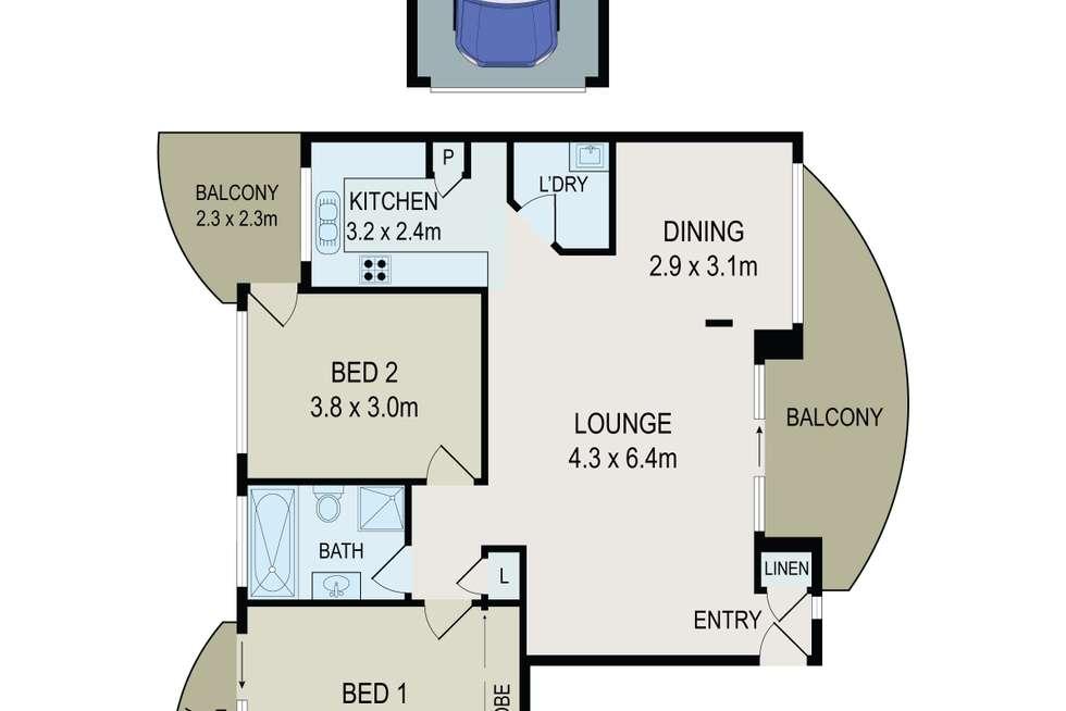 Floorplan of Homely unit listing, 12/94 Brancourt Avenue, Yagoona NSW 2199