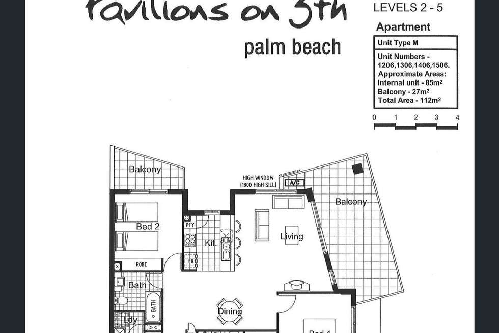 Floorplan of Homely apartment listing, 1306/10 Fifth Avenue, Palm Beach QLD 4221