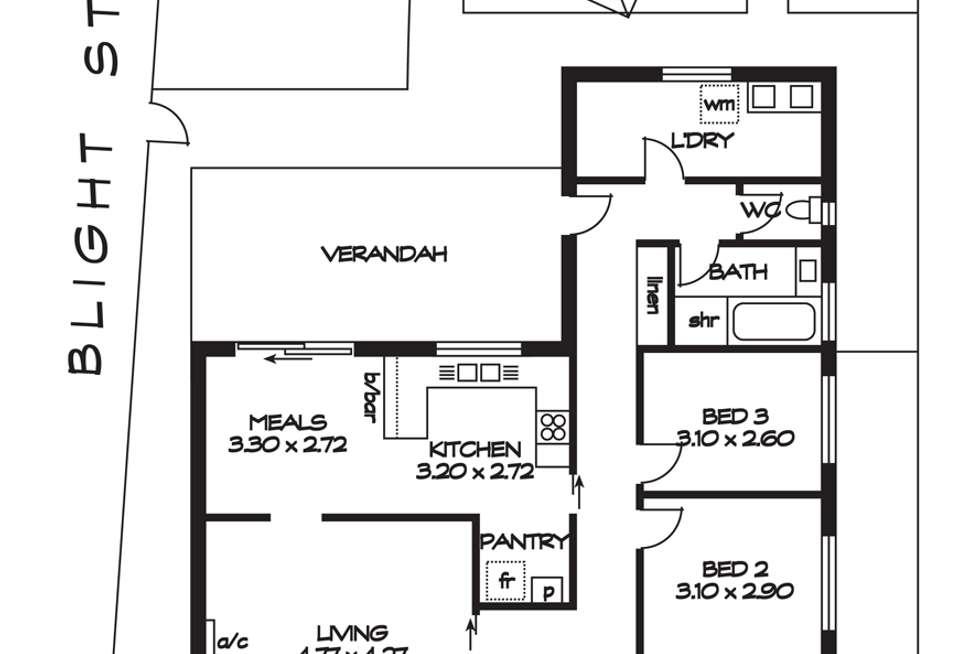 Floorplan of Homely house listing, 98A Hawker Street, Ridleyton SA 5008