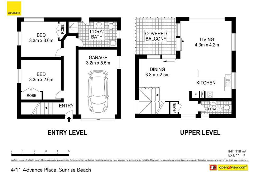 Floorplan of Homely townhouse listing, 4/11 Advance Place, Sunrise Beach QLD 4567