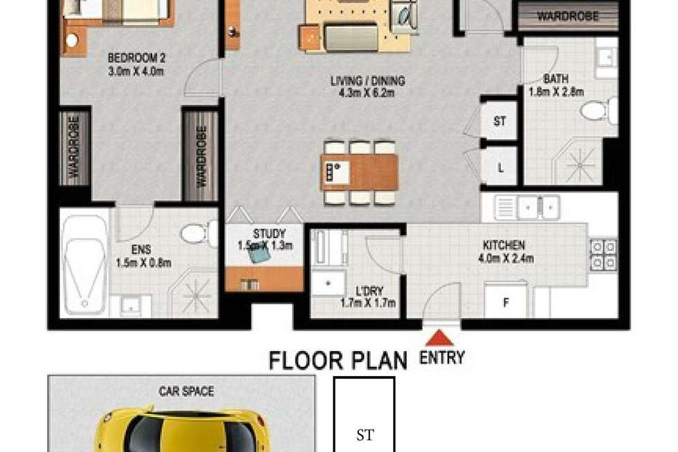 Floorplan of Homely apartment listing, 716/6 Marquet Street, Rhodes NSW 2138