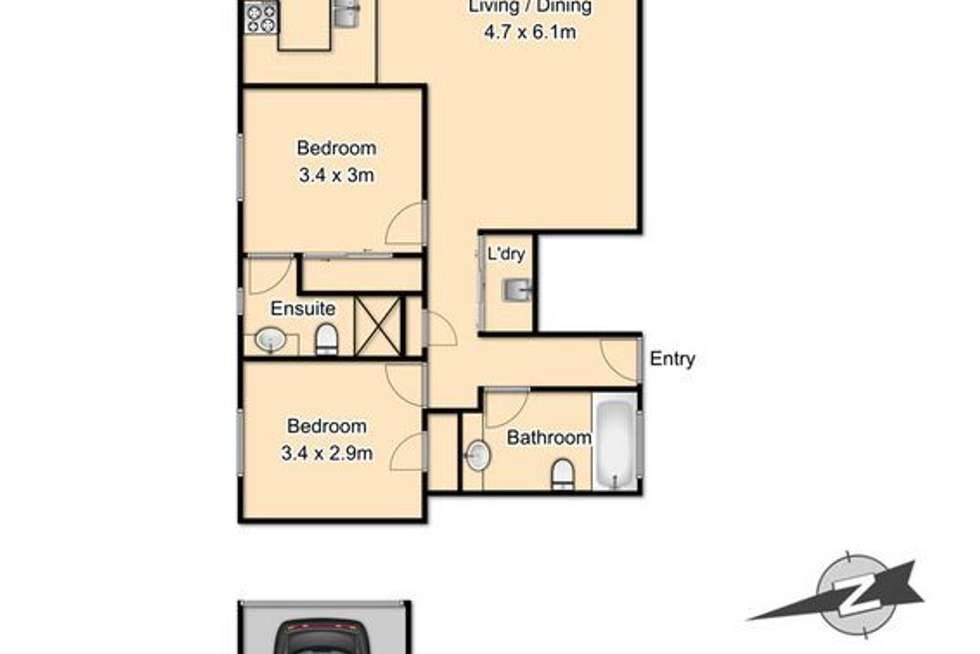 Floorplan of Homely unit listing, 10/19 Riverton Street, Clayfield QLD 4011