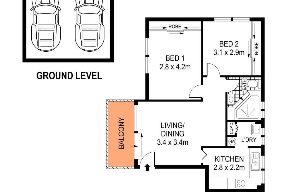 Floorplan of Homely unit listing, 6/16-18 Sellwood Street, Brighton-le-sands NSW 2216