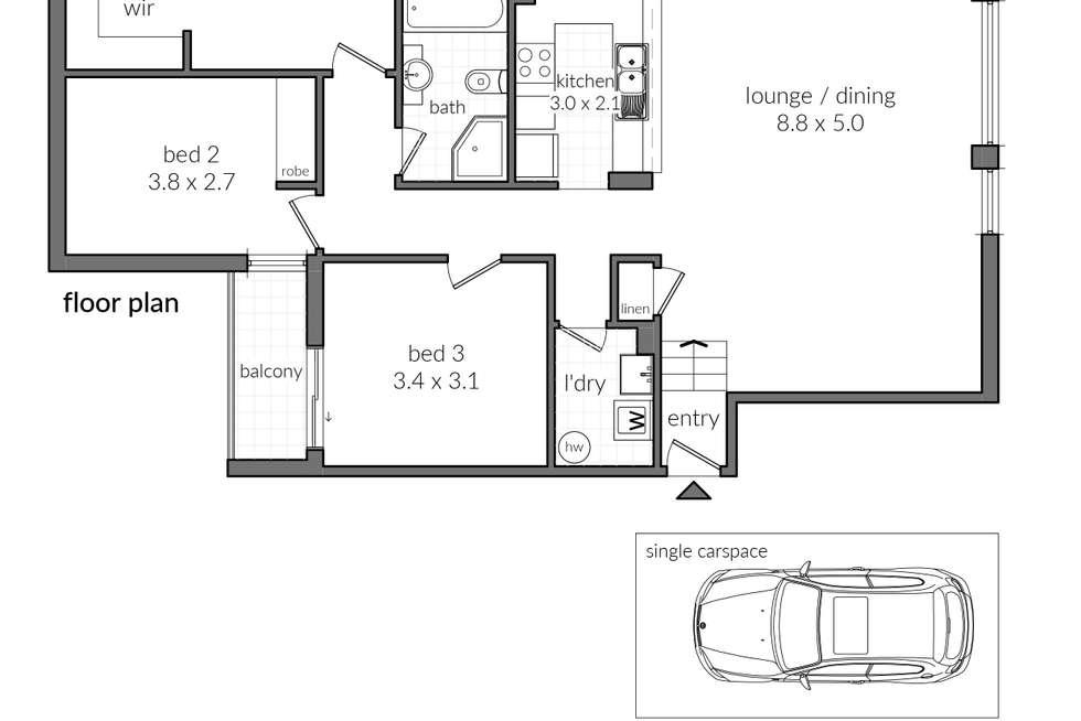 Floorplan of Homely unit listing, 6/38 The Avenue, Hurstville NSW 2220