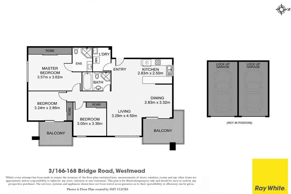 Floorplan of Homely unit listing, 3/166-168 Bridge Road, Westmead NSW 2145