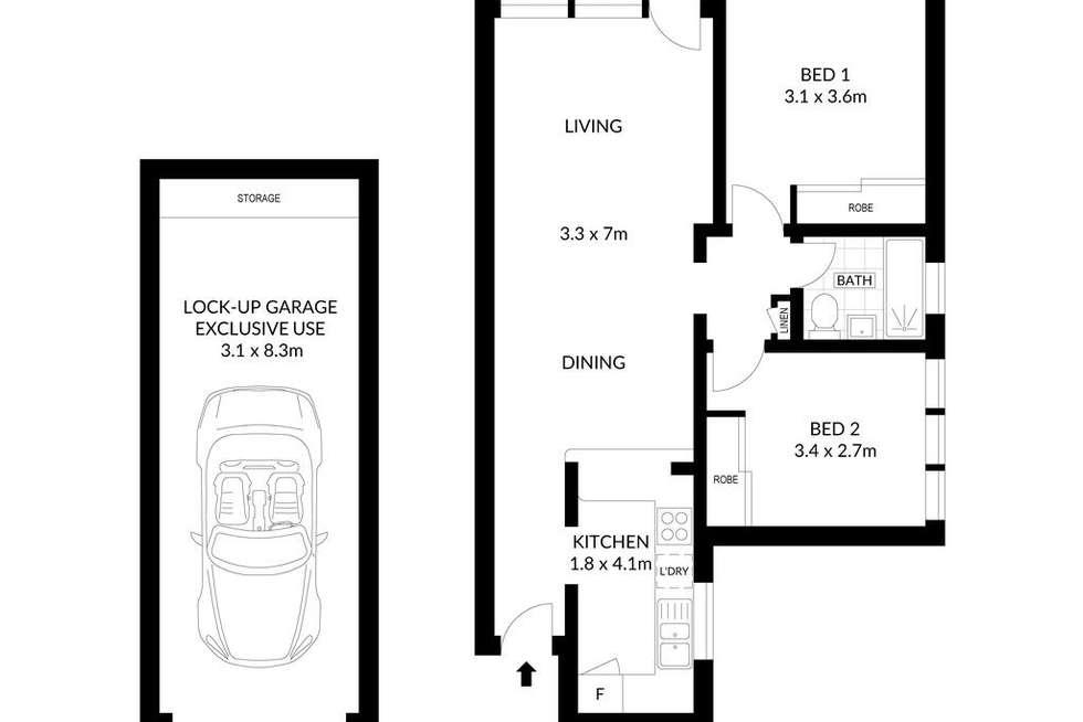 Floorplan of Homely apartment listing, 1/152 Raglan Street, Mosman NSW 2088