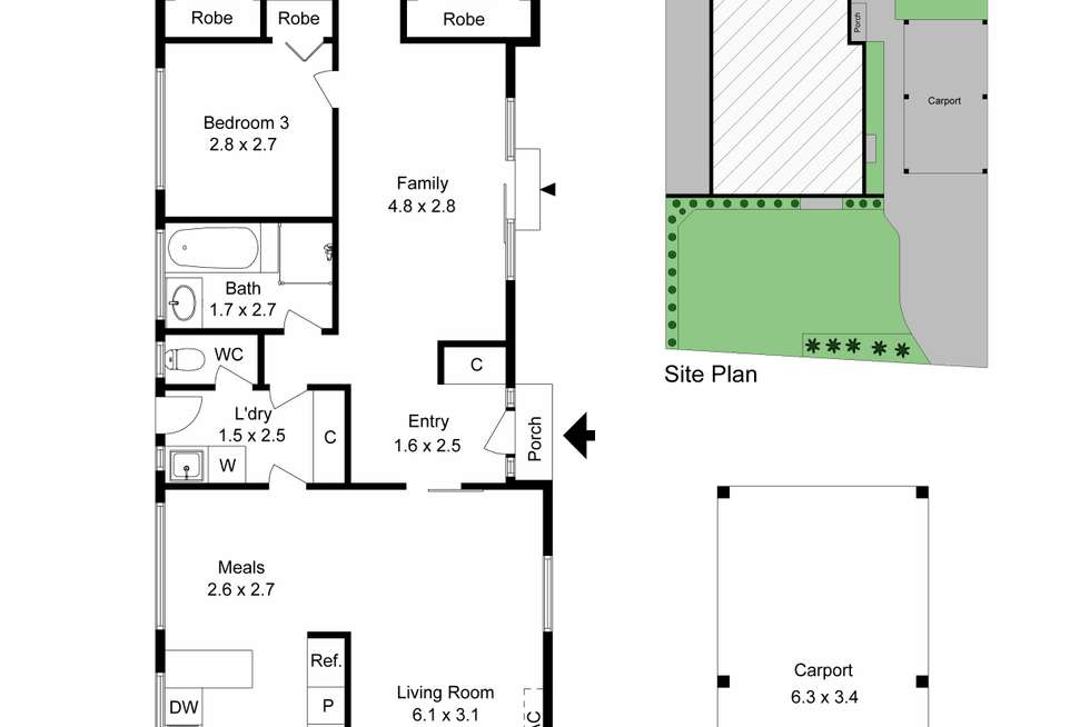 Floorplan of Homely house listing, 10b Glazebury Court, Langwarrin VIC 3910