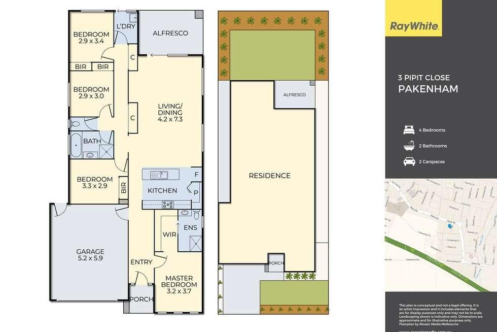 Floorplan of Homely house listing, 3 Pipit Close, Pakenham VIC 3810