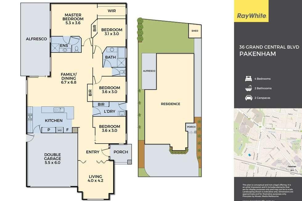 Floorplan of Homely house listing, 36 Grand Central Boulevard, Pakenham VIC 3810