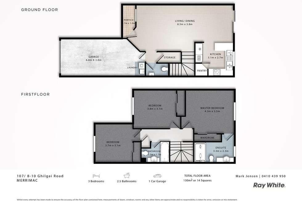 Floorplan of Homely townhouse listing, 107/8-10 Ghilgai Road, Merrimac QLD 4226