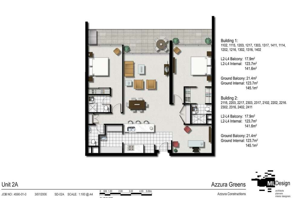 Floorplan of Homely apartment listing, 1217/2 Activa Way, Hope Island QLD 4212