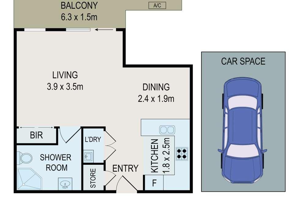 Floorplan of Homely studio listing, 2/63 Victoria Road, Parramatta NSW 2150