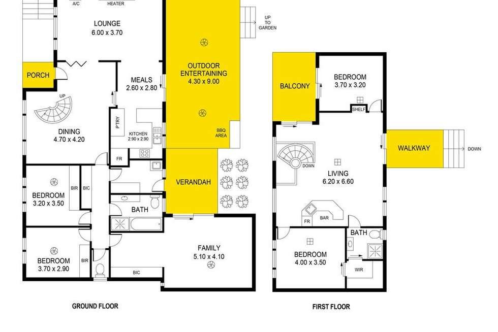 Floorplan of Homely house listing, 2 Kara Road, Seaview Downs SA 5049