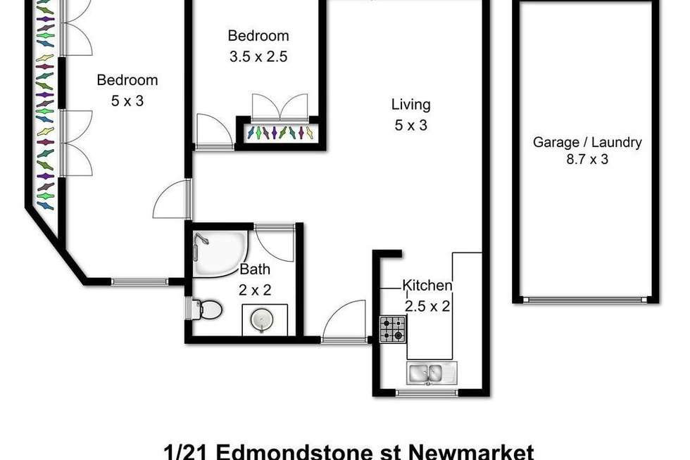 Floorplan of Homely unit listing, 1/21 Edmondstone Street, Newmarket QLD 4051