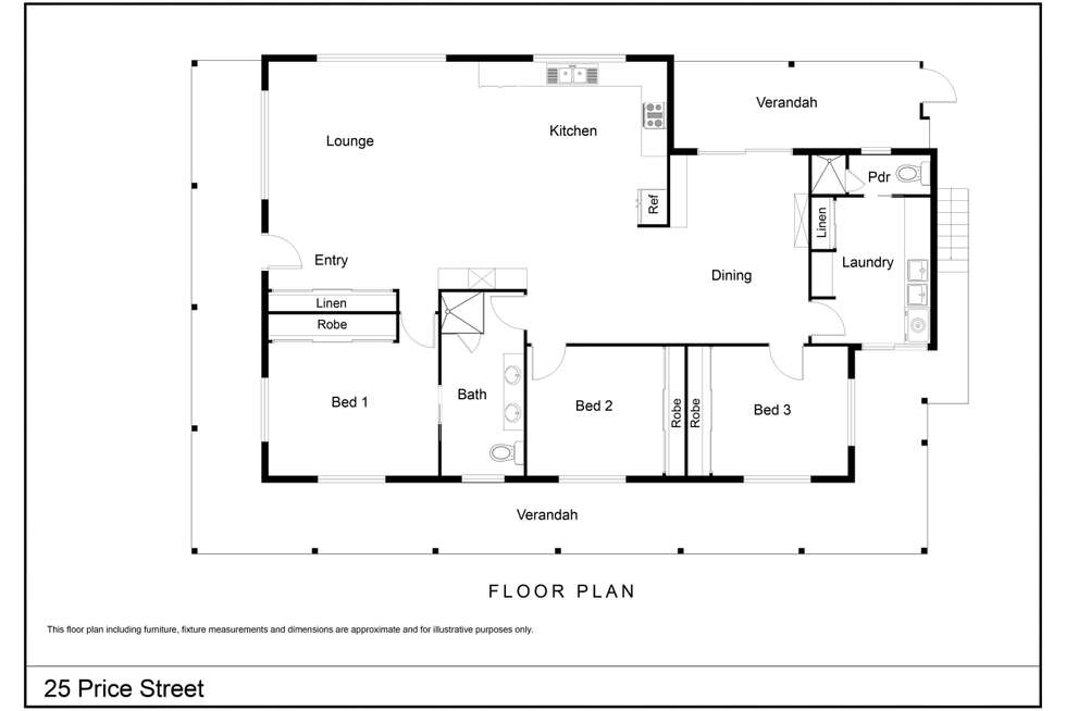 Floorplan of Homely house listing, 25 PRICE Street, Denmark WA 6333