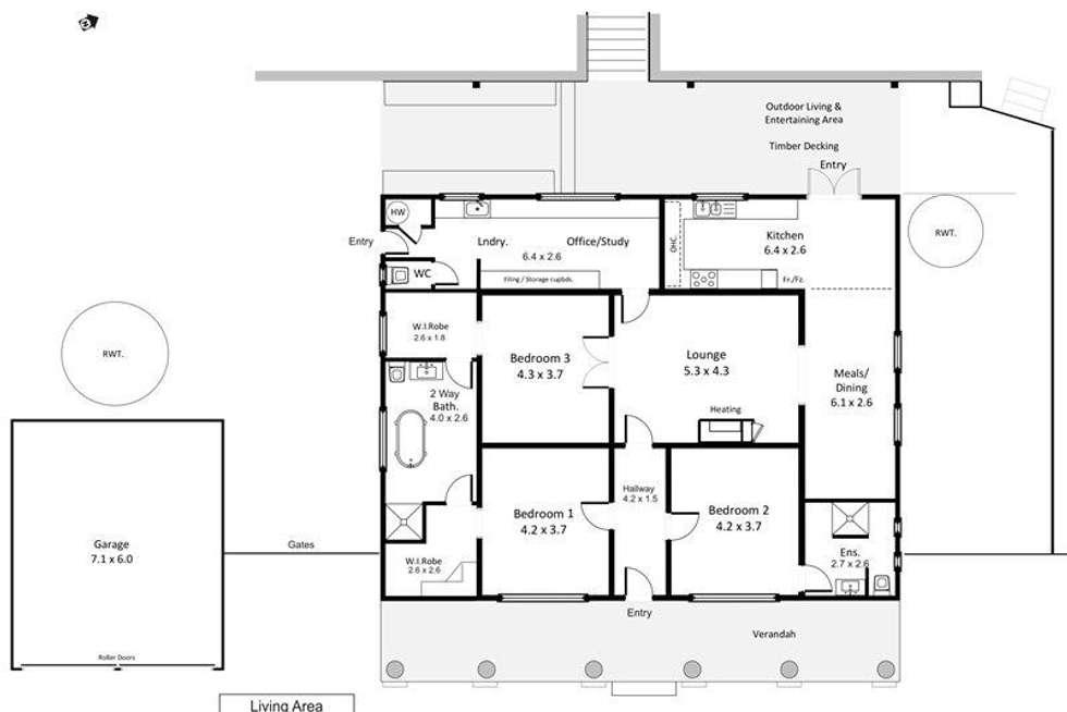 Floorplan of Homely house listing, 39 Powell Street, Berri SA 5343
