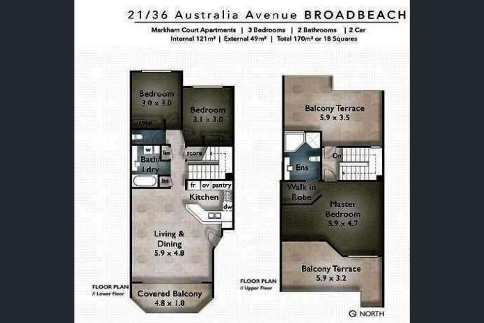 Floorplan of Homely unit listing, 21/36 Australia Avenue, Broadbeach QLD 4218