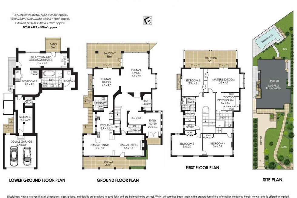 Floorplan of Homely house listing, 13 Morella Road, Mosman NSW 2088