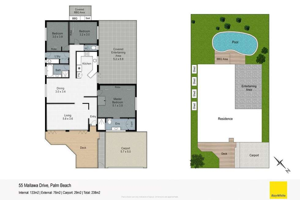 Floorplan of Homely house listing, 55 Mallawa Drive, Palm Beach QLD 4221