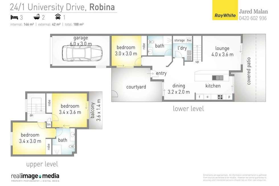 Floorplan of Homely unit listing, 24/1 University Drive, Robina QLD 4226