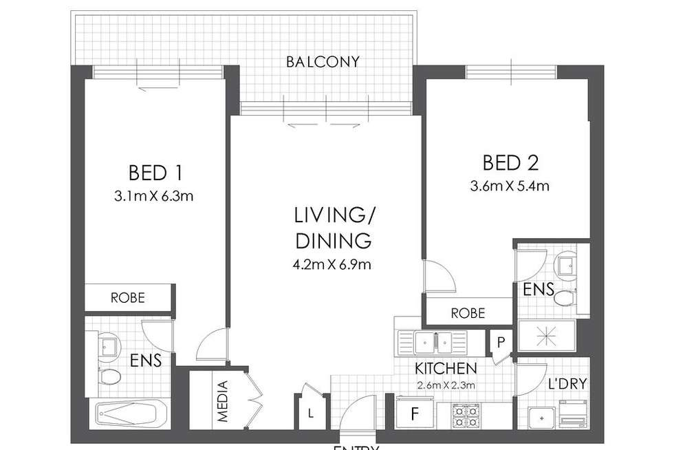 Floorplan of Homely apartment listing, B170/132-138 Killeaton Street, St Ives NSW 2075