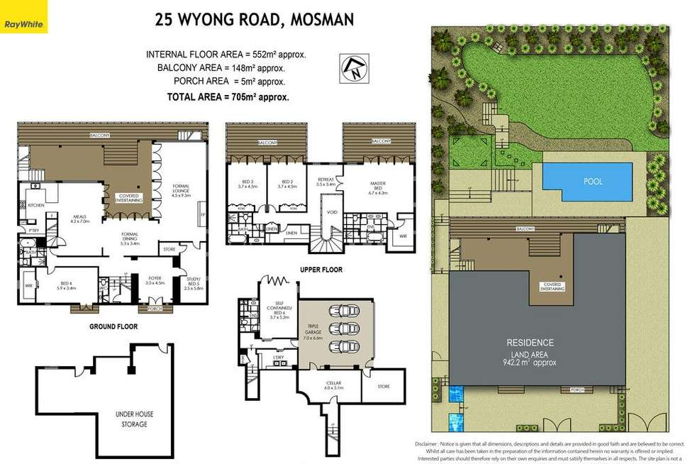 Floorplan of Homely house listing, 25 Wyong Road, Mosman NSW 2088