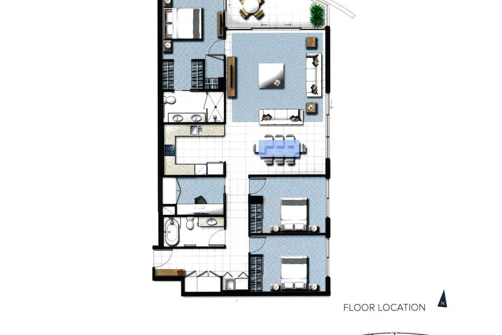 Floorplan of Homely unit listing, 31005/5 Harbour Side Court, Biggera Waters QLD 4216