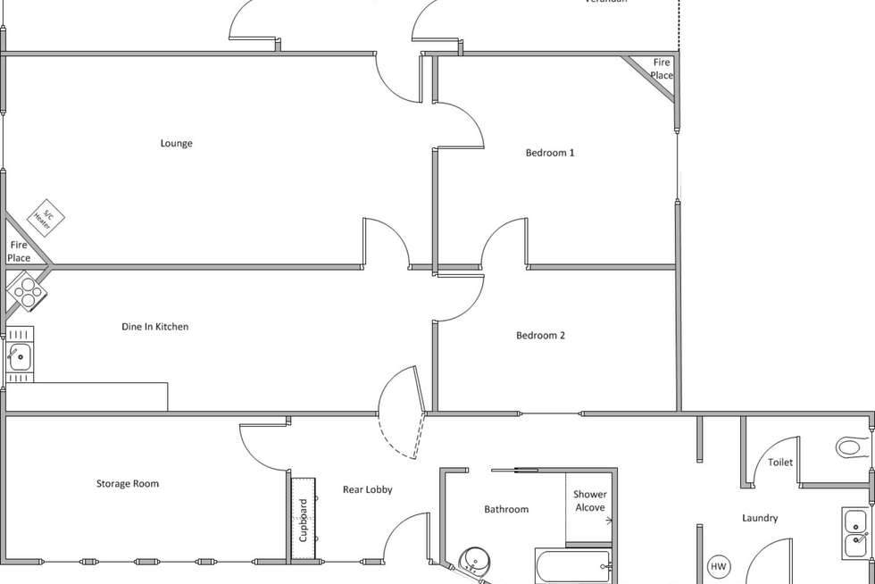 Floorplan of Homely house listing, 22 Anstey Terrace, Edithburgh SA 5583