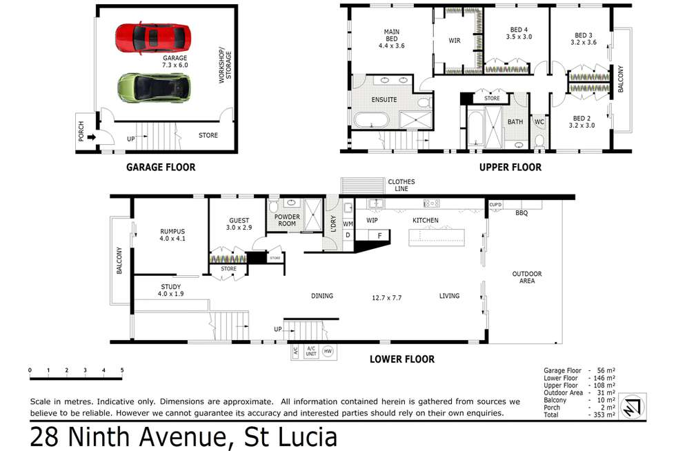 Floorplan of Homely house listing, 28 Ninth Avenue, St Lucia QLD 4067