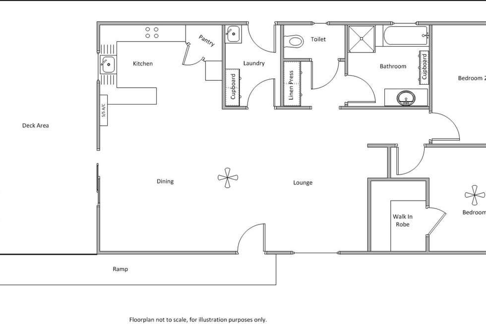 Floorplan of Homely house listing, 4 Perry Street, Edithburgh SA 5583